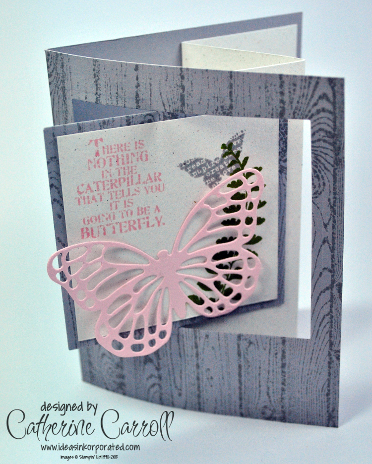 Butterfly Basics pop out swing card