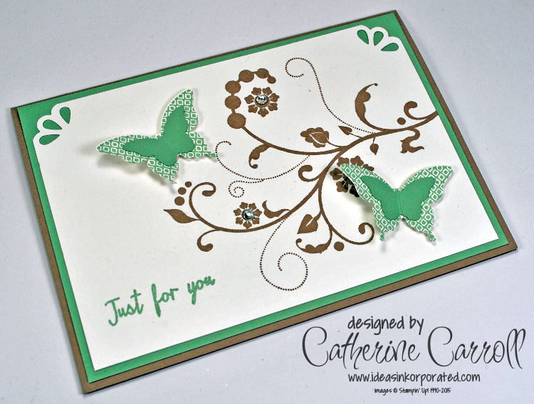 Flourishes and butterflies card