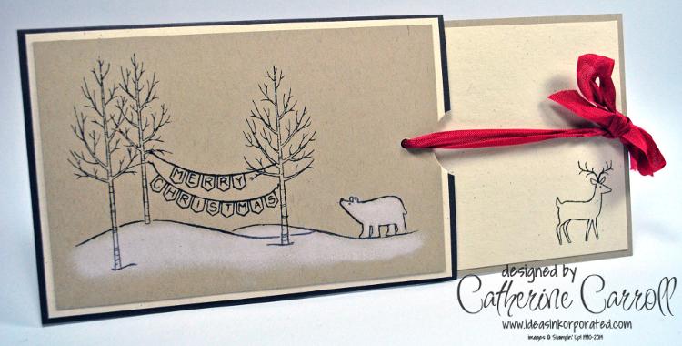White Christmas slider open