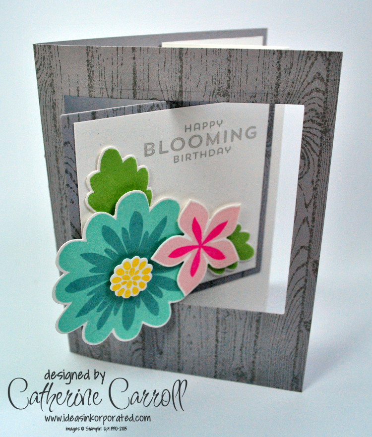 Flower Patch pop out swing card